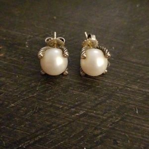 David Yurman Pearl Earrings